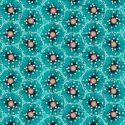 Tissu patchwork oursins fond turquoise - Reef