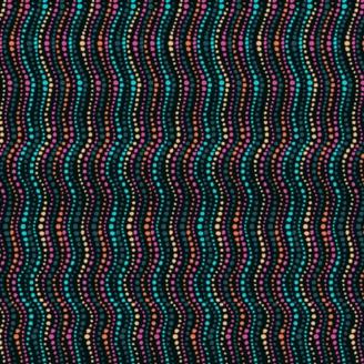 Tissu patchwork rayures vagues fond noir - Reef