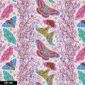 Tissu patchwork frises de papillons fond rose poudre - Hindsight d'Anna Maria Horner