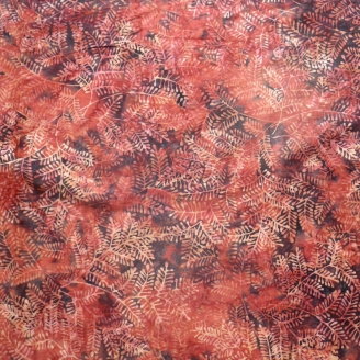 Tissu batik buisson orange rouille