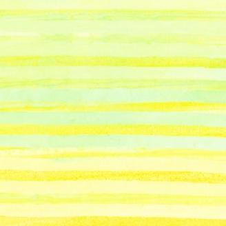 Tissu batik rayures jaunes et vert céleri