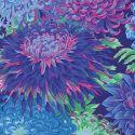 Tissu Philip Jacobs chrysanthèmes japonais Bleu PJ041
