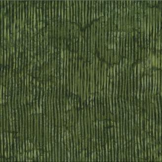 Tissu batik rayures vert olive