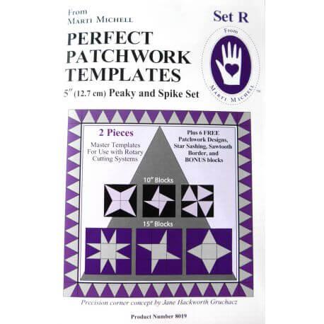 Set R - Gabarits pour patchwork de Marti Michell