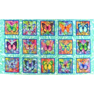 Panneau de tissu patchwork - Butterfly Paradise
