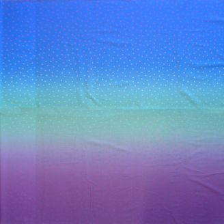 "Tissu patchwork dégradé bleu violet ""Blizzard lumineux"" - Gemstones"