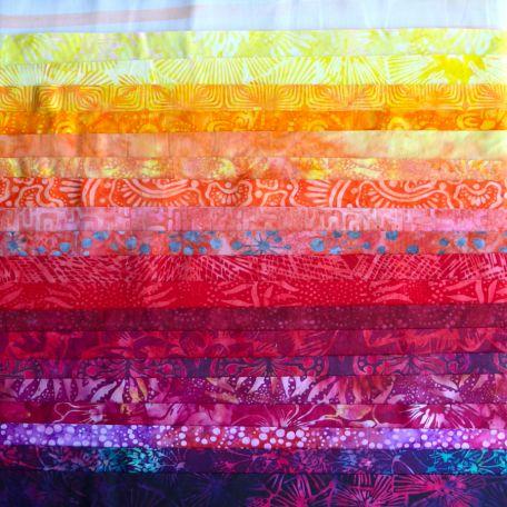 Joli roll de tissus batik - Gange