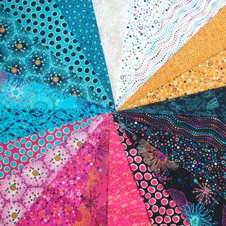 Layer cake de tissus patchwork Reef