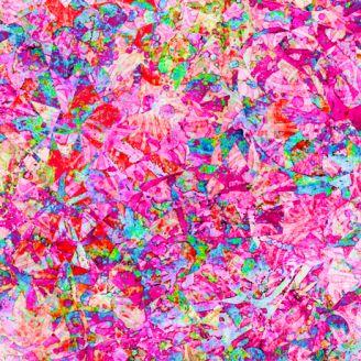 Tissu patchwork éclats fuchsia - Illuminations
