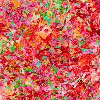 Tissu patchwork éclats rouge géranium - Illuminations
