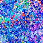 Tissu patchwork éclats bleu royal - Illuminations