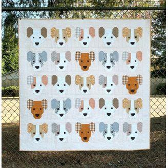 Les Chiots (The Puppies) - Modèle de patchwork d'Elizabeth Hartman