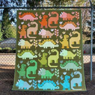 Dinosaures - Modèle de patchwork d'Elizabeth Hartman (en anglais)