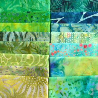 15 fat quarters de tissus batiks Mississipi