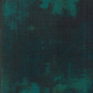 Tissu patchwork faux-uni patiné vert Everglade - Grunge de Moda