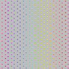 Tissu patchwork Tula Pink hexagones multicolores fond gris clair - True colors