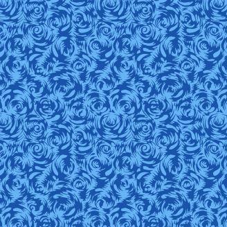 Tissu patchwork roses perses bleues - Silk road de Snow Leopard
