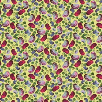 Tissu patchwork haricots et pois - Veggies de Martha Negley