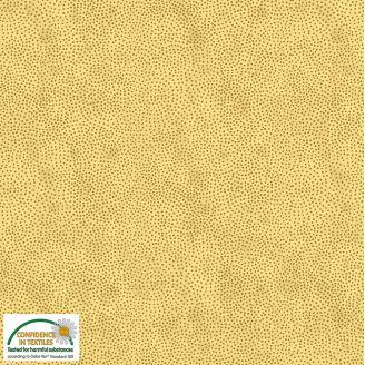 Tissu patchwork minis pois doré fond crème - Magic Christmas