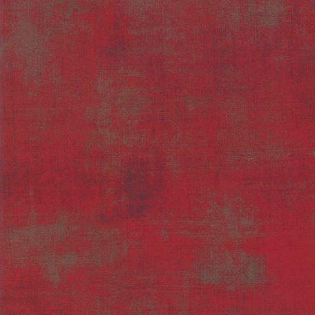 Tissu patchwork grande largeur faux-uni patiné rouge Maraschino - Grunge de Moda