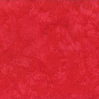 Tissu batik marbré rouge candy