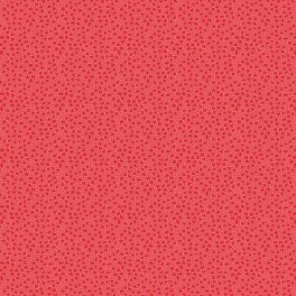 Tissu patchwork minis tulipes ton sur ton rouge doux