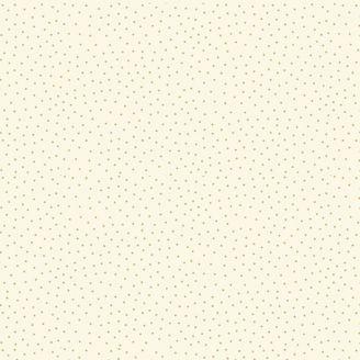 Tissu patchwork minis pois dorés fond écru - Yuletide