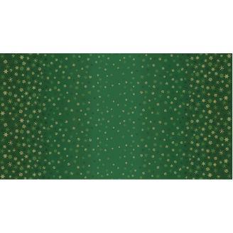 Tissu patchwork flocons de neige sur dégradé vert - Ombre Snowflake