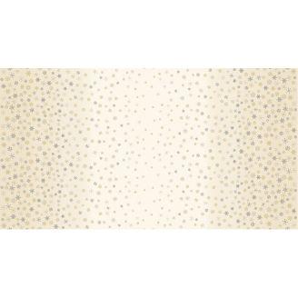 Tissu patchwork flocons de neige sur dégradé écru - Ombre Snowflake