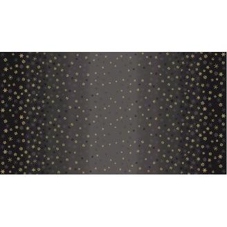 Tissu patchwork flocons de neige sur dégradé noir - Ombre Snowflake