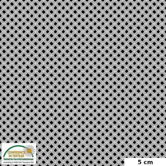 Tissu patchwork apple core noir et blanc - Quilters Combination