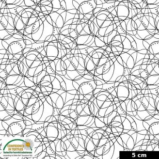 Tissu patchwork méli-mélo noir et blanc - Quilters Combination