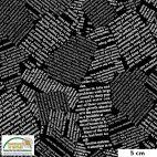 Tissu patchwork coupures de presse noir et blanc - Quilters Combination