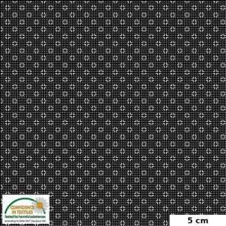 Tissu patchwork croix noir et blanc - Quilters Combination