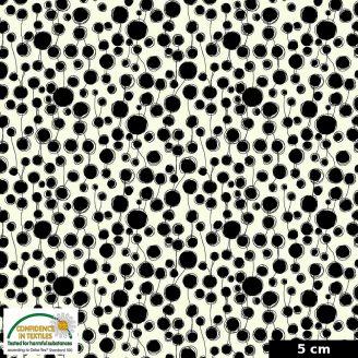 Tissu patchwork gouttes noir et écru - Quilters Combination