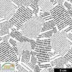 Tissu patchwork coupures de presse fond blanc - Quilters Combination