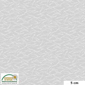 Tissu patchwork brins blancs fond gris clair - Quilters Combination