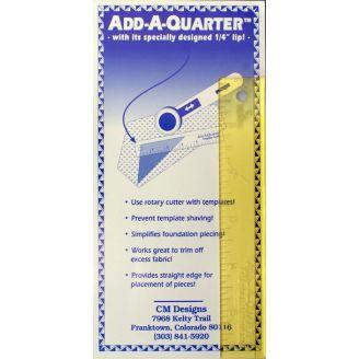 """Règle Add-a-quarter, ajout de la marge de couture d'1/4 d'inch (1"""" x 6"""")"""