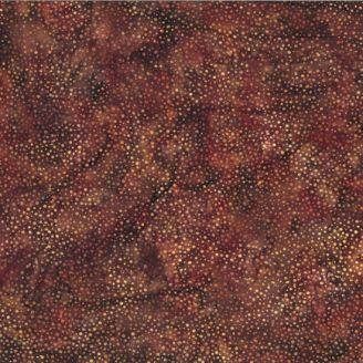 Tissu batik marron cuir pétillant