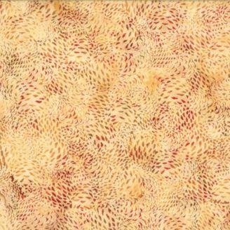 Tissu batik beige éclats d'automne