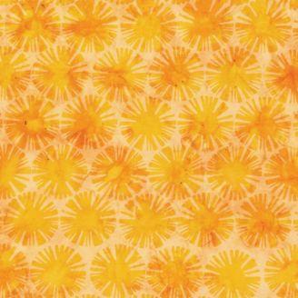 Tissu batik soleils jaunes