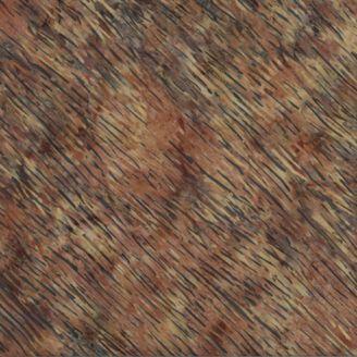 Tissu batik à stries brun Palomino