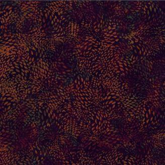 Tissu batik noir éclats Bourbon