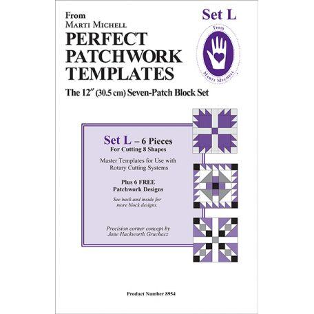 Set L pour 7-patch - Gabarits pour patchwork de Marti Michell