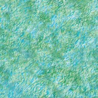 Tissu batik ridules d'eau turquoise