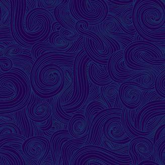 Tissu patchwork grande largeur entrelas bleu nuit (10 x 270 cm)