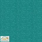Tissu patchwork petits points fond vert émeraude - Solaire