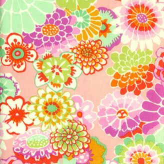 Tissu Kaffe Fassett Asian circles GP89 rose