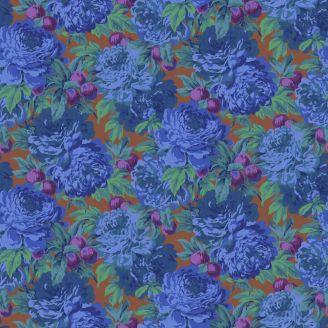 Tissu Philip Jacobs Luscious bleu PJ011