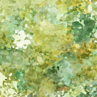 Tissu patchwork halos vert artichaut - Origins